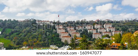 Buildings of the European side of Istanbul, Turkey