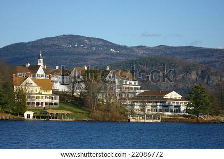 Buildings on Sagamore Island, Lake George, NY