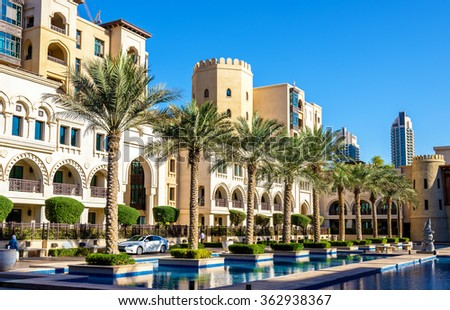 Buildings on the Old Town Island in Dubai