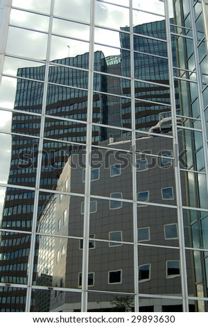 Buildings reflections - stock photo