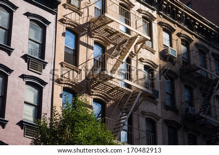 buildings with stairs in New York City