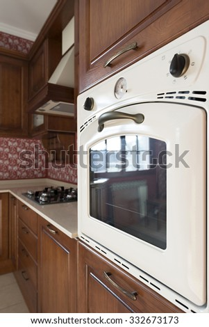 Built-in oven in the kitchen