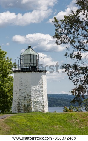Built in 1826, The Stony Point Lighthouse is the oldest lighthouse along the Hudson River.