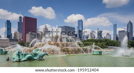 Bukingham Fountain - stock photo