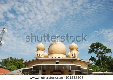 Bukit Bendera Mosque - stock photo