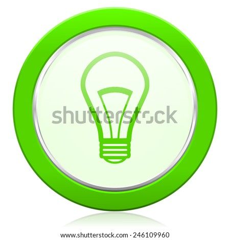 bulb icon light bulb sign - stock photo