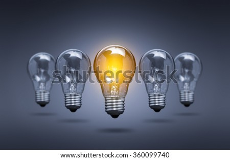 Bulb Idea Light Creative Innovation Leader - Stock Image - stock photo