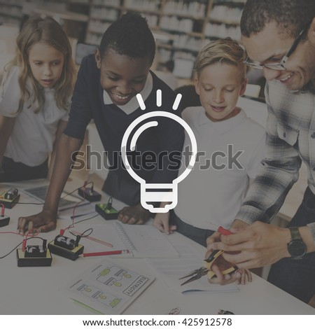 Bulb Ideas Action Vision Thoughts Objective Concept - stock photo