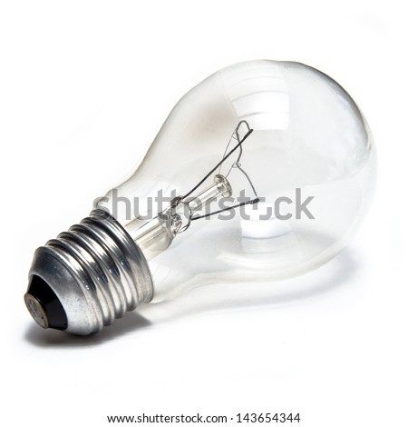Bulb isolated on white - stock photo