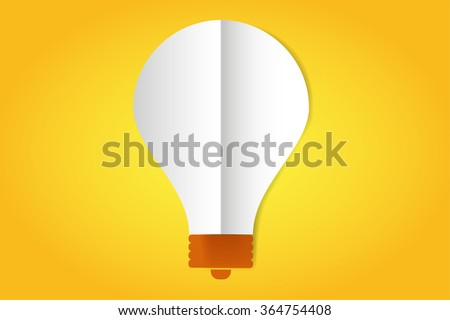 Bulb lamp flat style isolated. Glowing glass lamp with shine color. Lamp silhouette, lamp isolated, lamp bulb, lamp icon. Creative idea, creative concept, brainstorm, thinking - stock photo