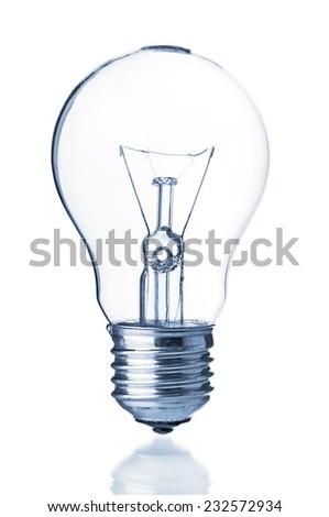 Bulb lamp on white background - stock photo