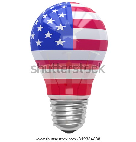 Bulb light with American flag