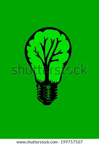 Bulb with tree inside