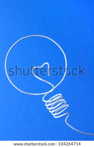 bulbs made with white wire