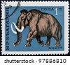 BULGARIA - CIRCA 1971: A stamp printed by BULGARIA shows mammoth, circa 1971 - stock photo
