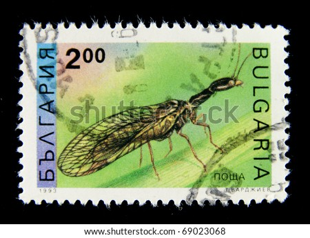 BULGARIA - CIRCA 1975: A stamp printed in Bulgaria shows ant with wings, circa 1975