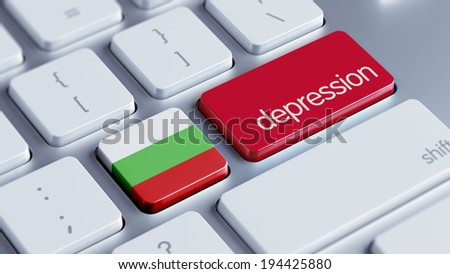 Bulgaria High Resolution Depression Concept - stock photo