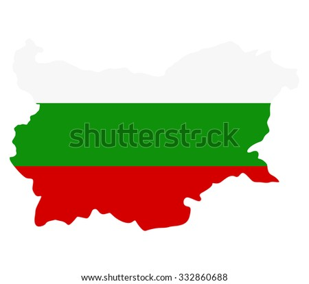bulgaria map on a white background