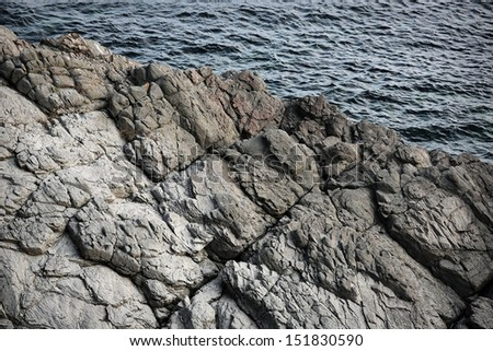 Bulgaria's coastal landscape rocks and sea - stock photo