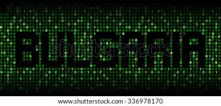 Bulgaria text on hex code illustration - stock photo