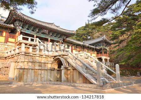 Bulguksa temple, Gyeongju, South Korea - stock photo