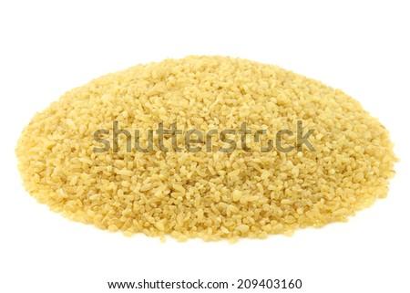 bulgur (couscous) on a white background - stock photo