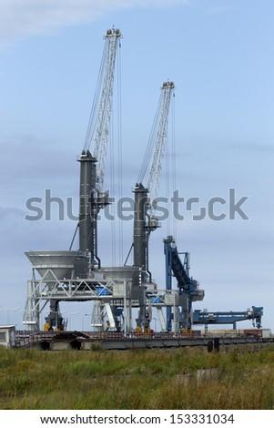 Bulk cargo port in Gdansk - stock photo