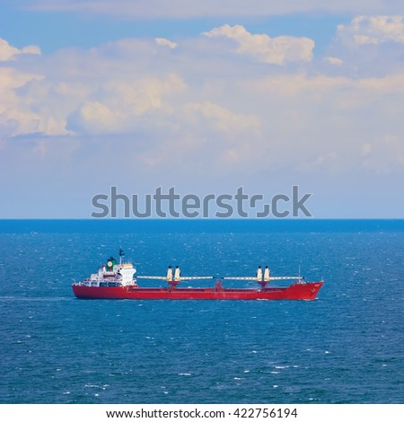 Bulk Carrier Ship in the Black Sea - stock photo