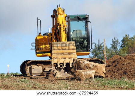 bulldozer arm - stock photo