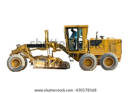 bulldozer in isolated background  - stock photo