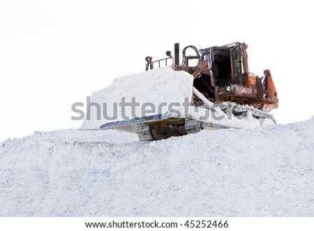 Bulldozer in work - stock photo