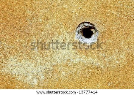 Bullet hole texture - stock photo
