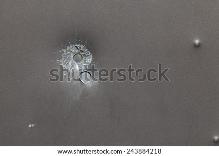 bullet holes, grunge background - stock photo