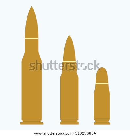 Bullet icons set on white background. Illustration of different bullets in flat design.