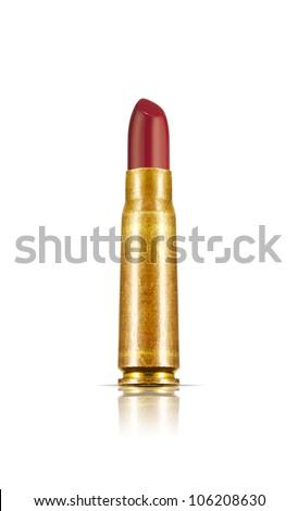 Bullet Lipstick (Lethal Cosmetics) - stock photo