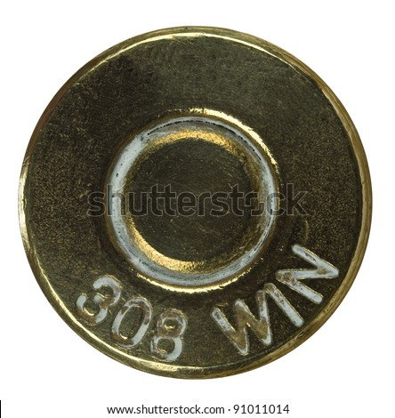 Bullet Shell casing bottom - stock photo