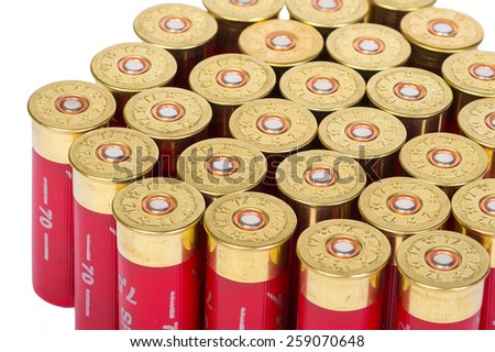 Bullet shells closup isolated - stock photo