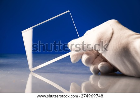 Bulletproof super hard glass based on structured nanocrystals - stock photo
