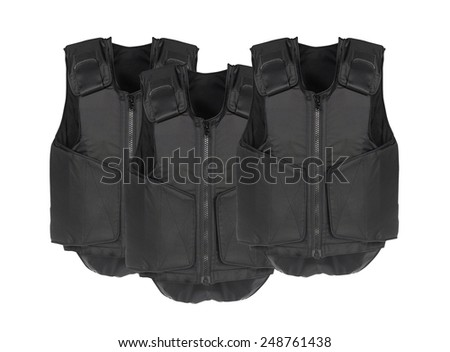 Bulletproof vest. Isolated on white. - stock photo