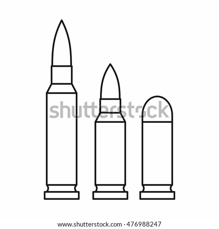 Bullets icon in outline style on a white background