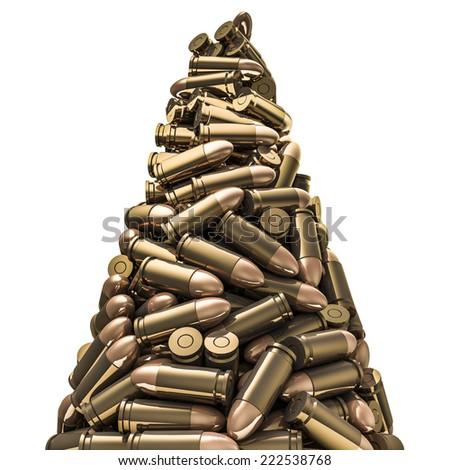 Bullets peak - stock photo