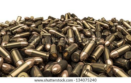 Bullets pile - stock photo