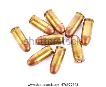 bullets white background
