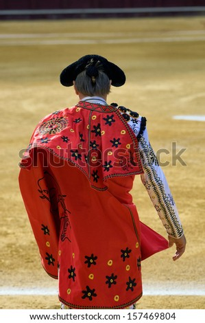 Bullfighter entering the bullring - stock photo