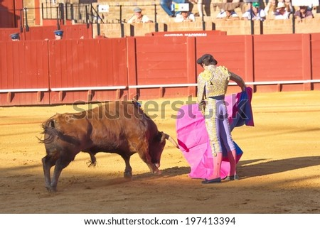 Bullfighting, Seville, Spain - stock photo