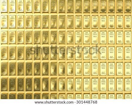bullion background - stock photo