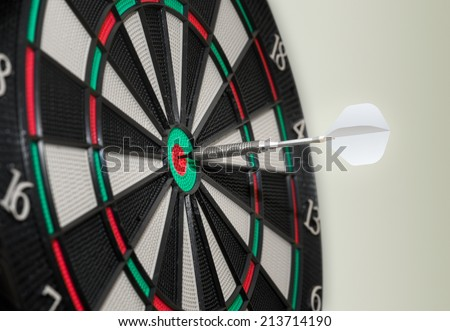 Bulls-eye electronic Dartboard - stock photo