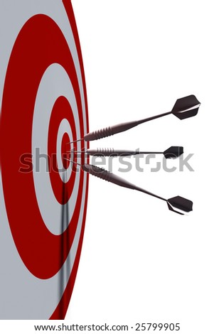 bullseye - business concept - 3d illustration - stock photo