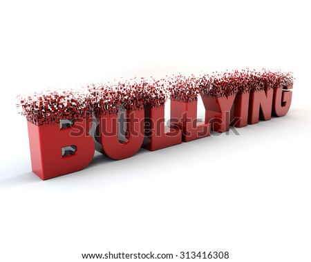 Bullying finish.  Fragment font. 3D render. Concept ideia - stock photo