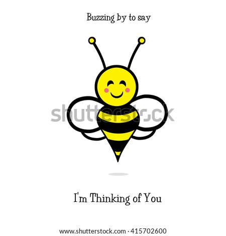 Bumble Bee - Thinking of You - stock photo